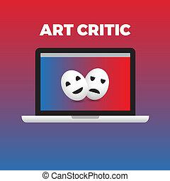 concept, van, kunstcriticus, werken, moment.gradient, achtergrond