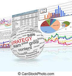 concept, van, strategie, in, zakelijk