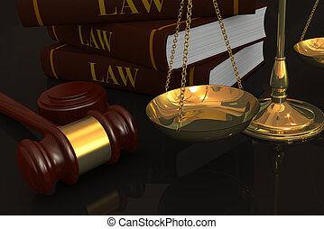 concept, van, wet, en, justitie