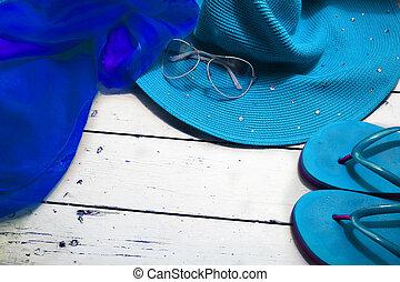 concept, van, zomer, accessoires
