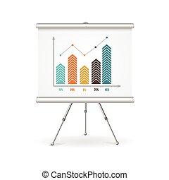 concept., vecteur, chiquenaude, business, diagramme