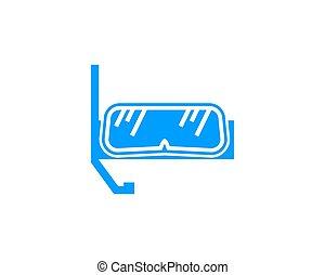 concept, vecteur, conception, plongée, logo, sport, scaphandre