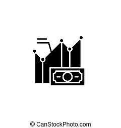 concept., vecteur, essai, noir, symbole, q.i., plat, icône, signe, illustration.