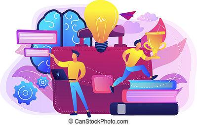 concept, vecteur, illustration., entrepreneurship