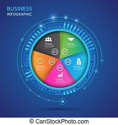 concept, vecteur, infographic, business, technology.