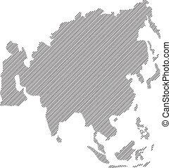 concept  Vector Asia map