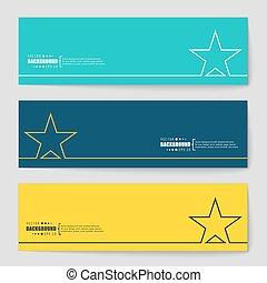 Concept vector banner background