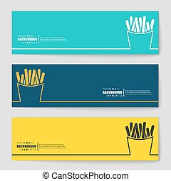 Concept vector banner background - Abstract creative concept...
