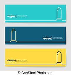 Concept vector banner background