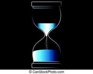 concept, vector, bout, tijd voorbijgaan, hourglass