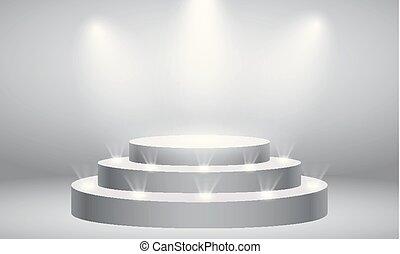concept., vector, ceremonia, effect., etapa, redondo, ...