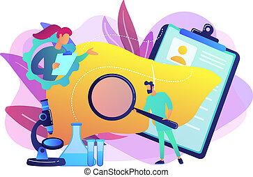 concept, vector, illustration., cirrhosis
