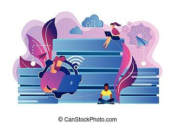 concept, vector, illustration., databank