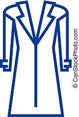 concept., vector, línea, símbolo, chamarra, plano, icono, señal, abrigoligero, contorno, illustration.
