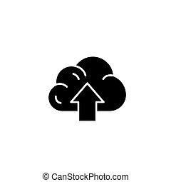 concept., vector, negro, símbolo, plano, icono, alto, señal, rendimiento, illustration.
