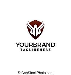 concept, vector, ontwerp, mal, logo, opleiding