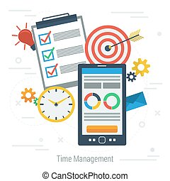 Concept vector time management