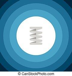 concept., vektor, sein, icon., fruehjahr, crankshaft, freigestellt, auto, element, crankshaft, auto, gebraucht, buechse, design, wohnung