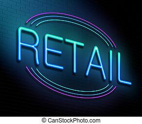 concept., vente au détail