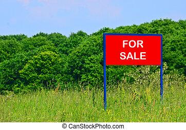 concept, vente, terre