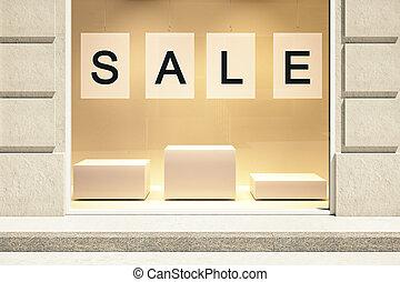 concept, vente, vitrine