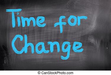 concept, veranderen, tijd