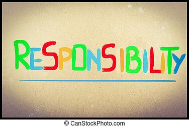 concept, verantwoordelijkheidsgevoel