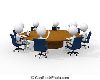 concept, vergadering, zakelijk