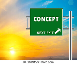 concept, vert, panneaux signalisations