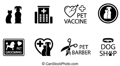 concept veterinary icons