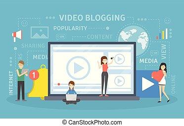 concept., video, blogging