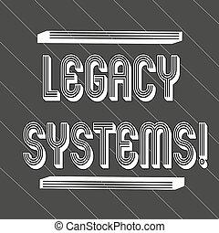 concept, vieux, texte, système, legs, couché, épais, technologie, 45, seamless, systems., application, programme, noir, blanc, méthode, raies, signification, lignes, informatique, mince, écriture, ou, degrees.