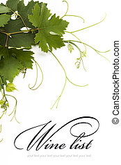 concept, vin, liste, conception