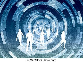 concept, virtuel, business