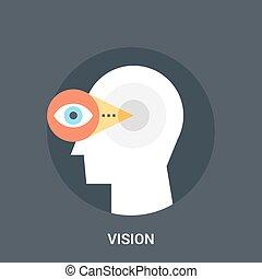 concept, vision, icône