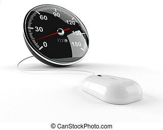 concept, vitesse, 3d, internet
