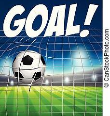 concept, voetbal net, bal, doel