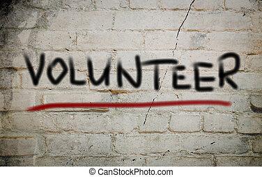 concept, volontaire