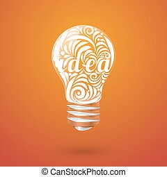 Concept vortex ideas in the form of light bulb.