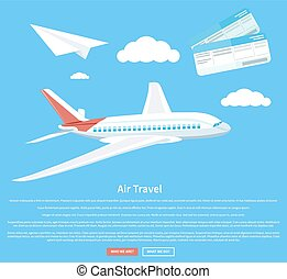 concept, voyage, voler, avion, air