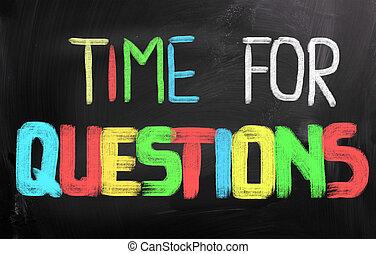 concept, vragen, tijd