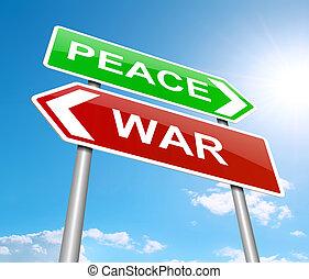 concept., vrede, oorlog, of
