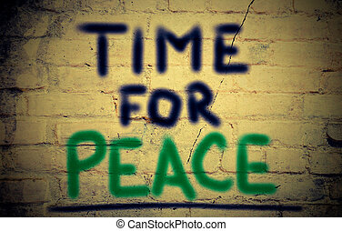 concept, vrede, tijd