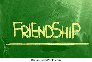 concept, vriendschap