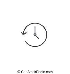 concept, vrijstaand, vector, achtergrond, witte , pictogram, geschiedenis