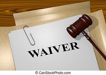 concept, waiver, légal