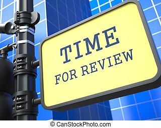concept., waymark., revisión, empresa / negocio, tiempo