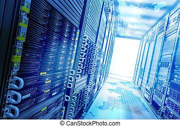 Concept web storage. - Conceptual Web service station with...