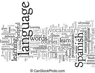 concept, weg, leren, achtergrond, spaanse , best, tekst, ...