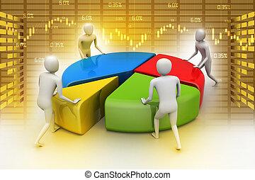 concept, werken, handel team